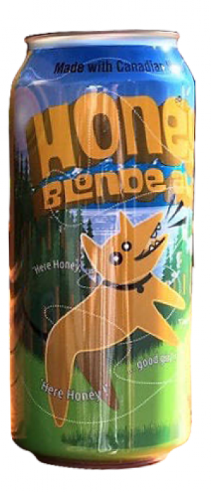 Honey Blonde Ale by Bad Dog Brewing Company in British Columbia, Canada