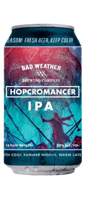 Hopcromancer IPA by Bad Weather Brewing Company in Minnesota, United States