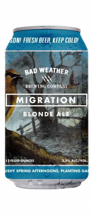Migration Blonde Ale by Bad Weather Brewing Company in Minnesota, United States