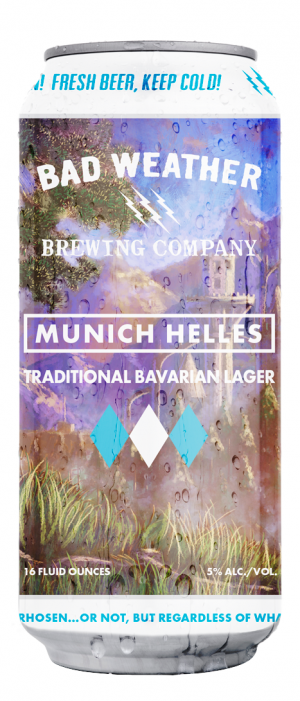 Munich Helles by Bad Weather Brewing Company in Minnesota, United States