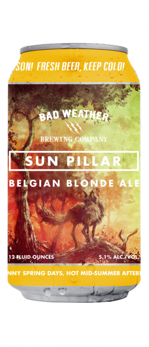 Sun Pillar Belgian Blonde Ale by Bad Weather Brewing Company in Minnesota, United States