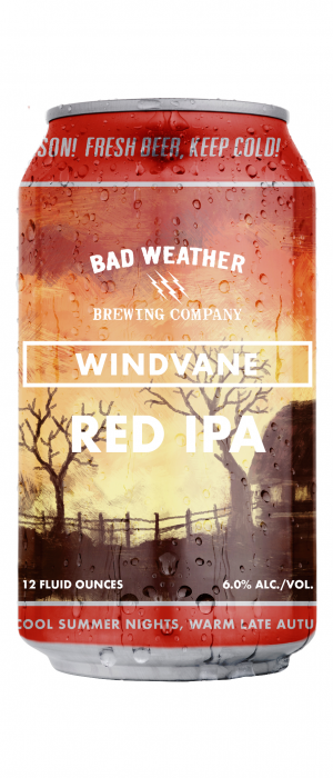 Windvane Red IPA by Bad Weather Brewing Company in Minnesota, United States