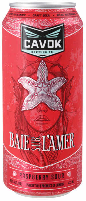 Baie Sur L'Amer Raspberry Sour by Cavok Brewing Co. in New Brunswick, Canada