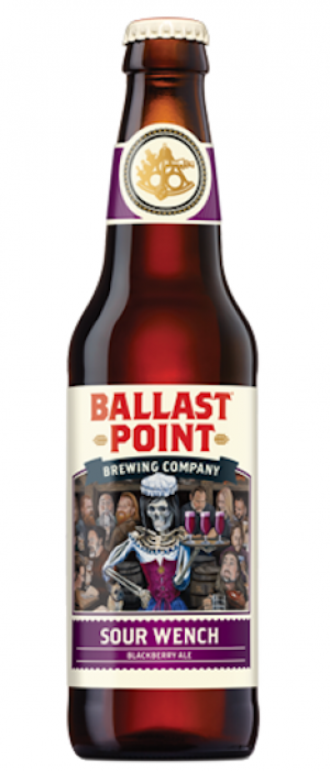 Sour Wench Blackberry Ale by Ballast Point Brewing Company in California, United States