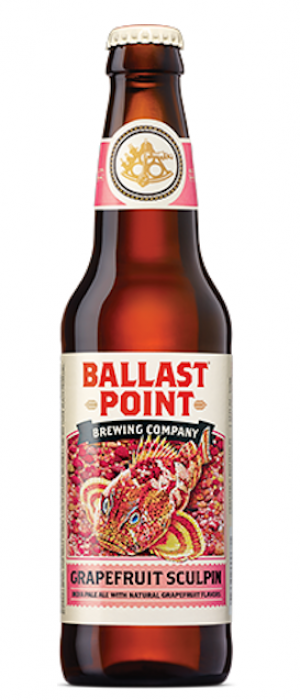 Grapefruit Sculpin by Ballast Point Brewing Company in California, United States