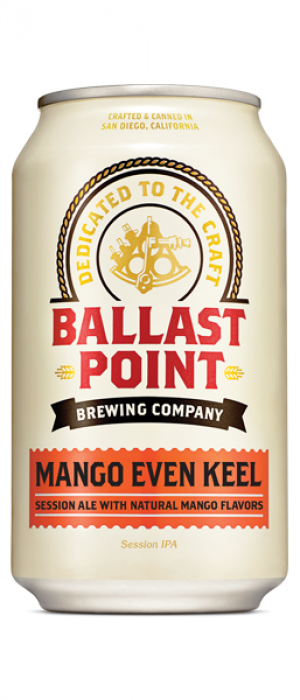 Mango Even Keel by Ballast Point Brewing Company in California, United States