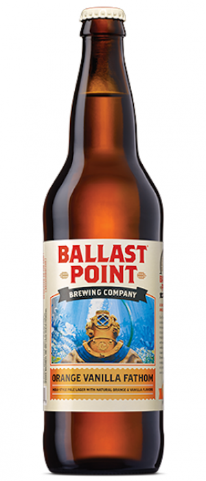 Orange Vanilla Fathom by Ballast Point Brewing Company in California, United States