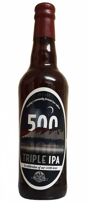 500 Triple IPA by Banff Ave. Brewing Company in Alberta, Canada