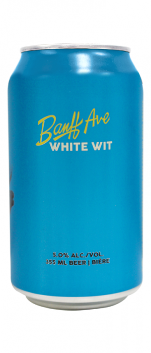 White Wit by Banff Ave. Brewing Company in Alberta, Canada