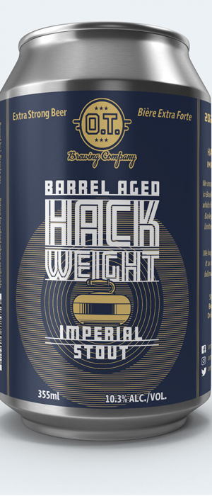 Barrel Aged Hack Weight by O.T. Brewing Company in Alberta, Canada