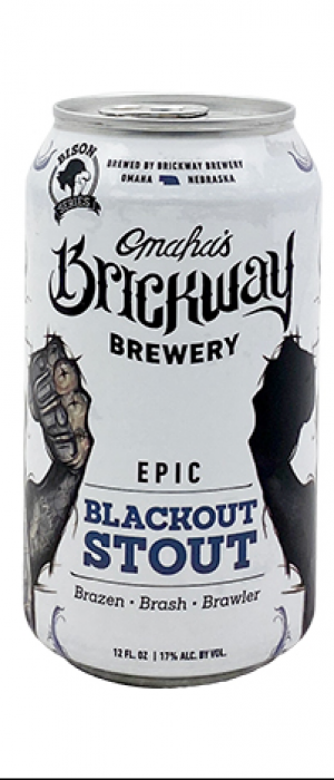 Barrel-Aged Epic Blackout Stout by Brickway Brewery & Distillery in Nebraska, United States