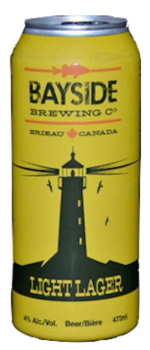 Lighthouse Lager by Bayside Brewing Company in Ontario, Canada