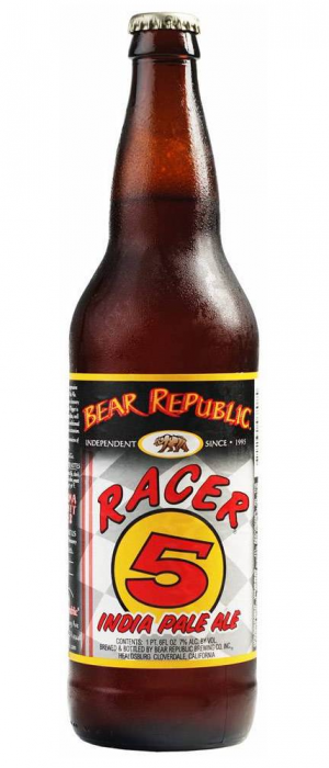 Racer 5 IPA by Bear Republic Brewing Company in California, United States