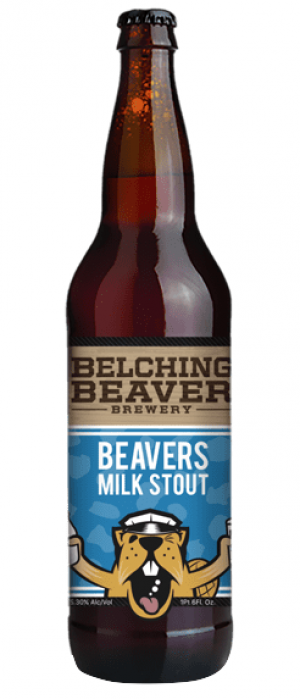Beavers Milk Stout by Belching Beaver Brewery in California, United States
