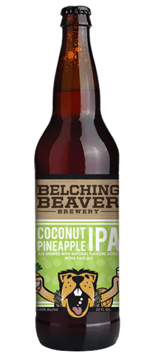 Coconut Pineapple IPA by Belching Beaver Brewery in California, United States