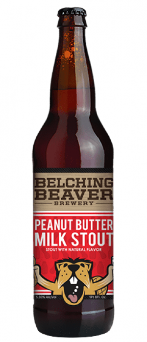 Peanut Butter Milk Stout by Belching Beaver Brewery in California, United States