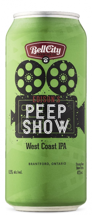 Edison's Peepshow by Bell City Brewing Company in Ontario, Canada