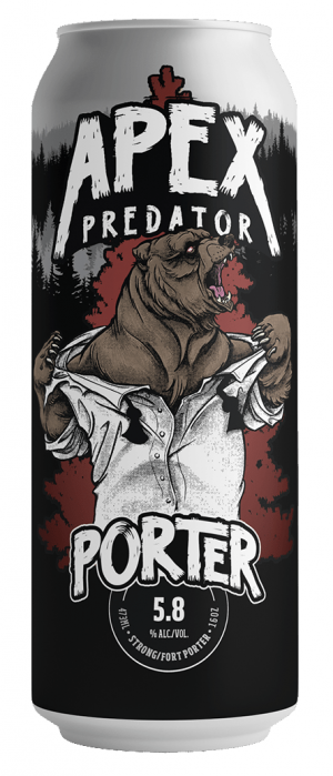 Apex Predator Porter by Apex Predator Brewing in Alberta, Canada