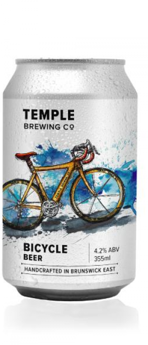 Bicycle Beer by Temple Brewing Co. in Victoria, Australia