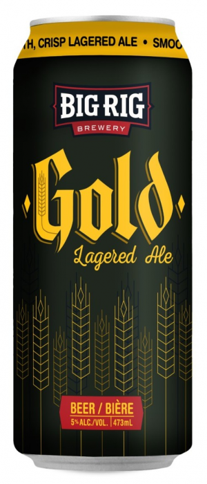 Gold Lagered Ale by Big Rig Brewery in Ontario, Canada