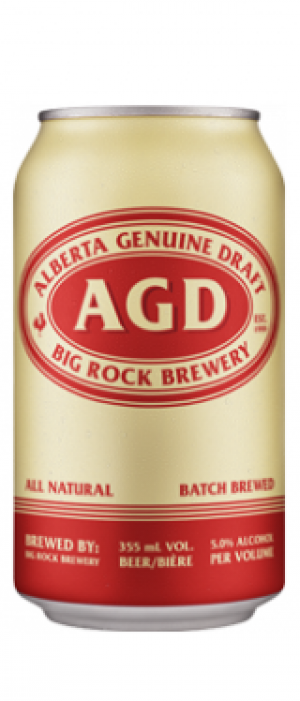 Alberta Genuine Draft by Big Rock Brewery in Alberta, Canada