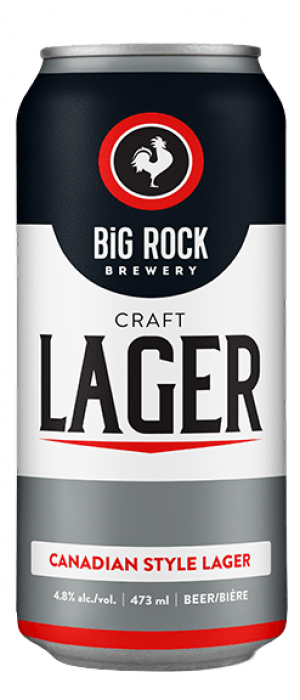 Craft Lager by Big Rock Brewery in Alberta, Canada
