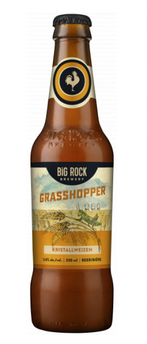 Grasshopper Kristallweizen by Big Rock Brewery in Alberta, Canada