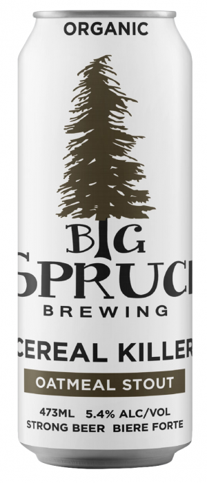 Cereal Killer Oatmeal Stout by Big Spruce Brewing in Nova Scotia, Canada