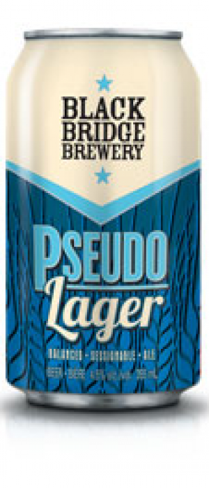 Pseudo Lager by Black Bridge Brewery in Saskatchewan, Canada