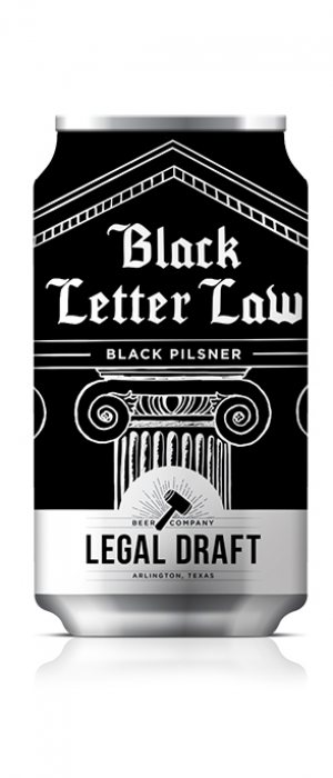 Black Letter Law by Legal Draft Beer Co. in Texas, United States