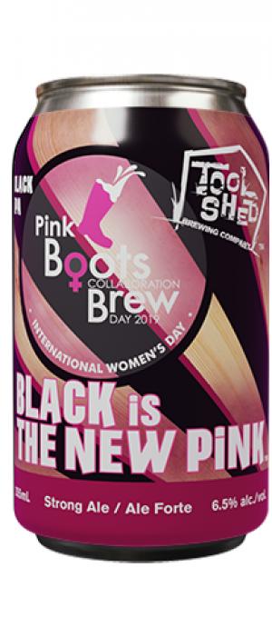 Black is the New Pink by Tool Shed Brewing Company in Alberta, Canada