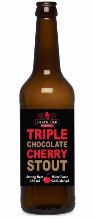 Triple Chocolate Cherry Stout by Black Oak Brewing Company in Ontario, Canada