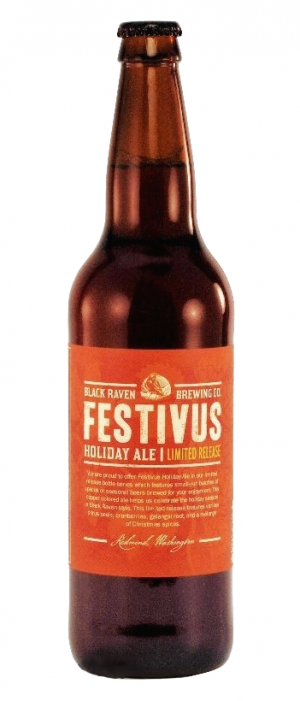 Festivus Holiday Ale by Black Raven Brewing Company in Washington, United States