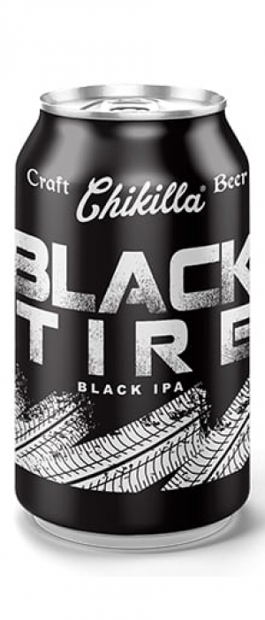 Black Tire Black IPA by Chikilla Craft Beer in Baja California, Mexico