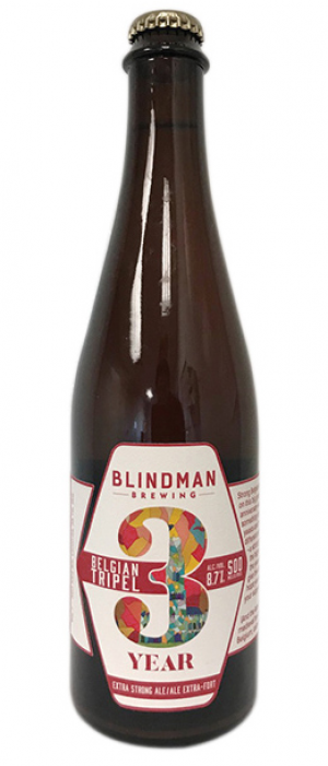 3 Year Belgian Tripel by Blindman Brewing in Alberta, Canada
