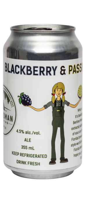 Florida Weisse Blackberry & Passionfruit by Blindman Brewing in Alberta, Canada