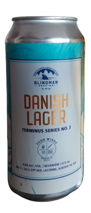 Danish Lager by Blindman Brewing in Alberta, Canada