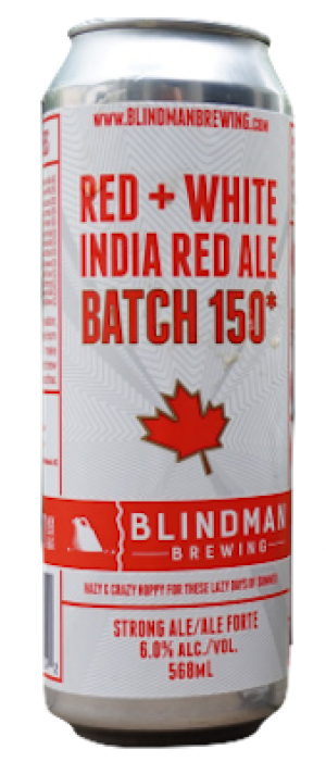 Red + White India Red Ale Batch 150* by Blindman Brewing in Alberta, Canada