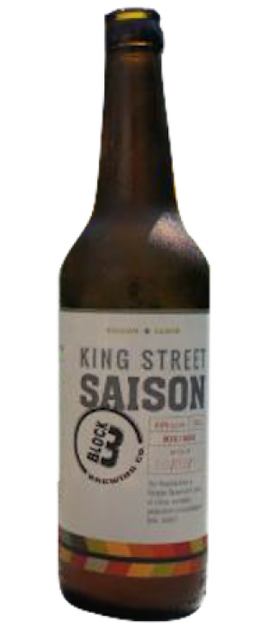 King Street Saison by Block Three Brewing Company in Ontario, Canada