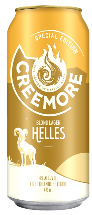Blond Lager Helles by Creemore Springs in Ontario, Canada