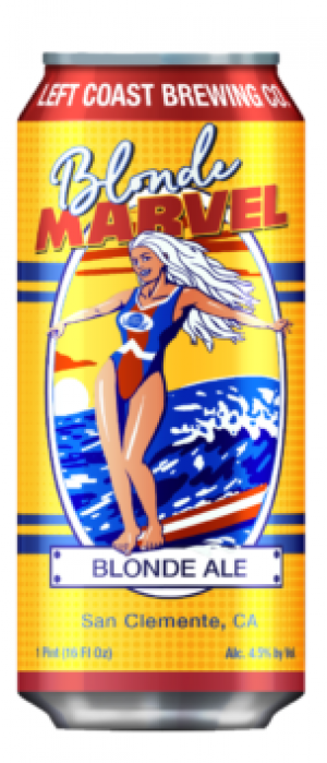 Blonde Marvel by Left Coast Brewing Company in California, United States