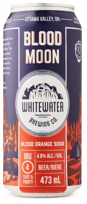 Blood Moon Blood Orange Sour by Whitewater Brewing Company in Ontario, Canada