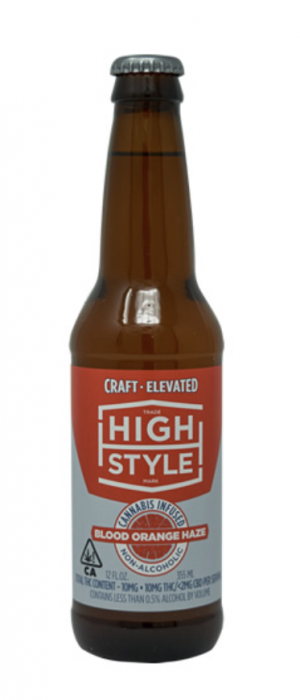 Blood Orange Haze THC-Infused Beer by High Style Brewing Company in California, United States