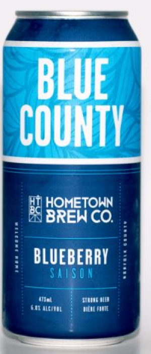Blue Country Blueberry Saison by Hometown Brew Co. in Ontario, Canada