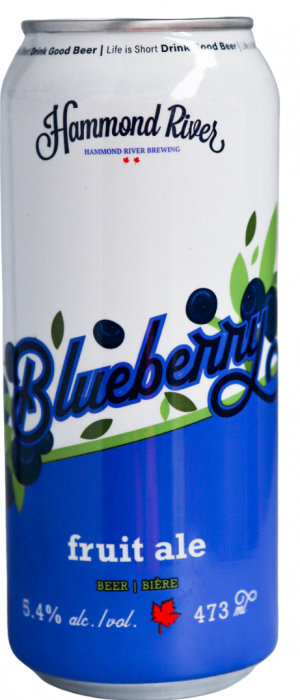 Blueberry Fruit Ale by Hammond River Brewing Company in New Brunswick, Canada