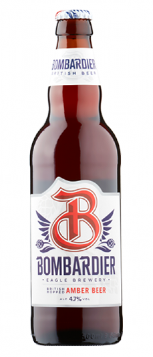 Bombardier Amber Beer by Eagle Brewery in Bedfordshire - England, United Kingdom