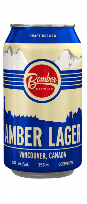Amber Lager by Bomber Brewing in British Columbia, Canada
