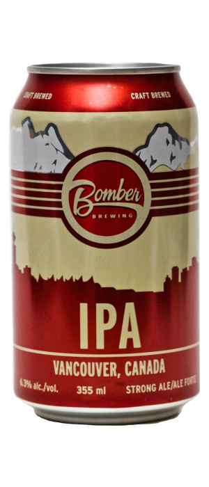 IPA by Bomber Brewing in British Columbia, Canada