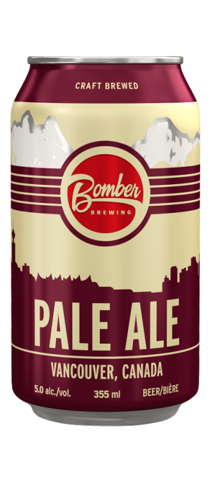 Pale Ale by Bomber Brewing in British Columbia, Canada