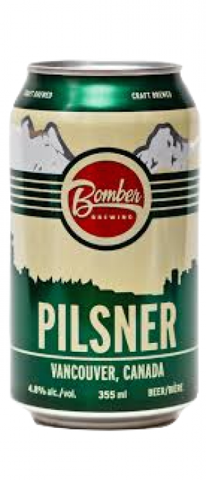 Pilsner by Bomber Brewing in British Columbia, Canada